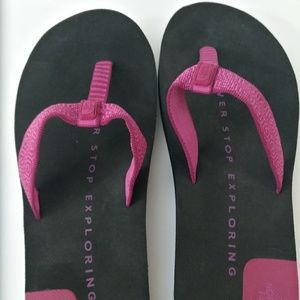 North Face flipflops Size 8